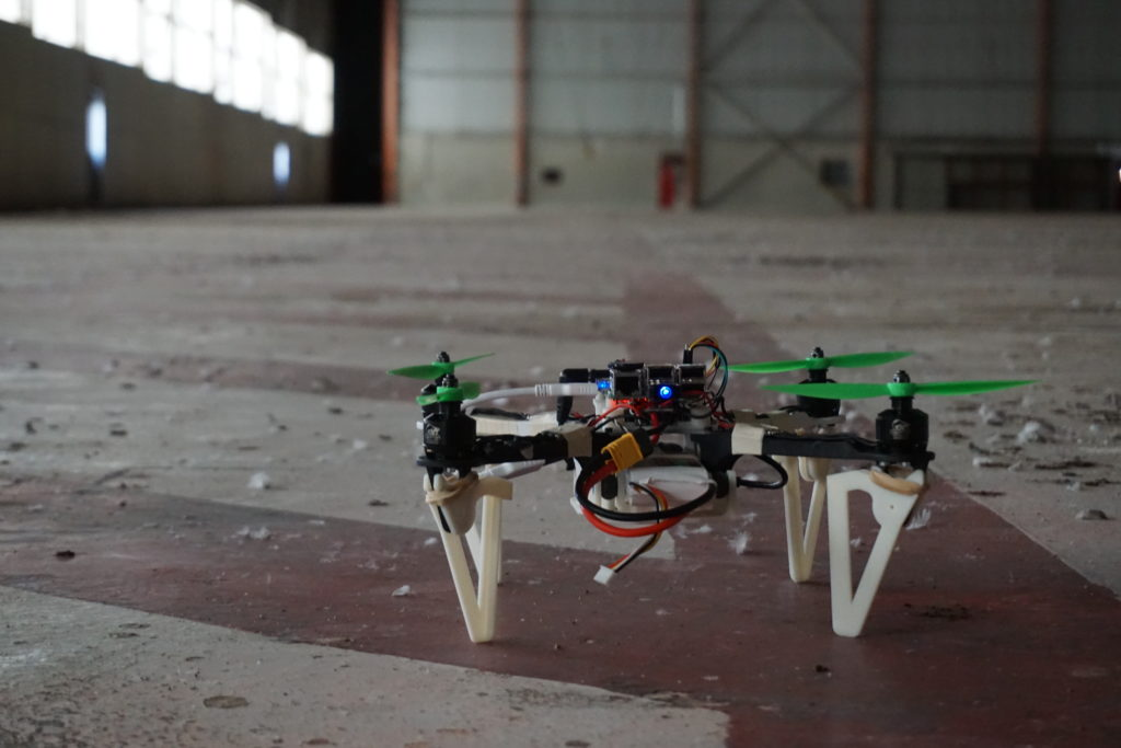 A drone on the ground