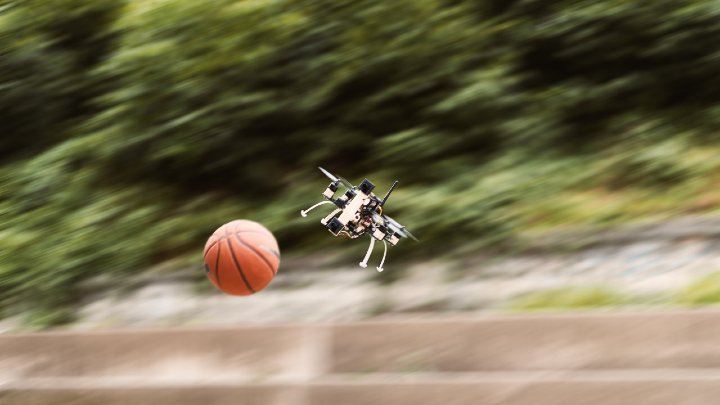 A drone that can play dogdeball