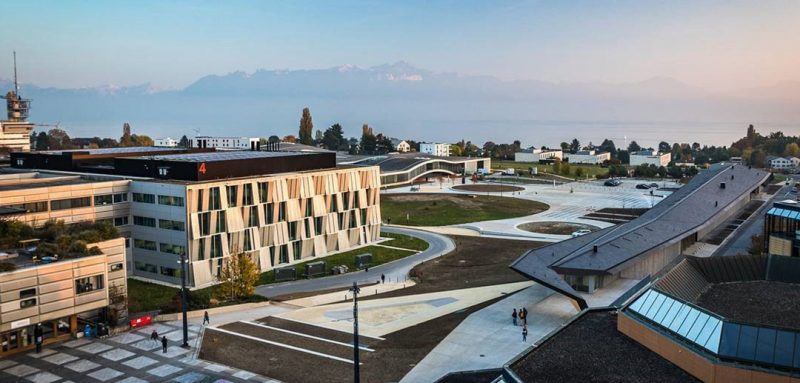 Aerial picture of EPFL